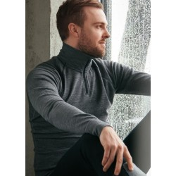 Merino Super Soft 1/2 Zip Men Blue